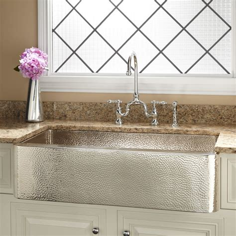 hammered copper farmhouse kitchen sinks hammered stainless steel farmhouse sink befon for