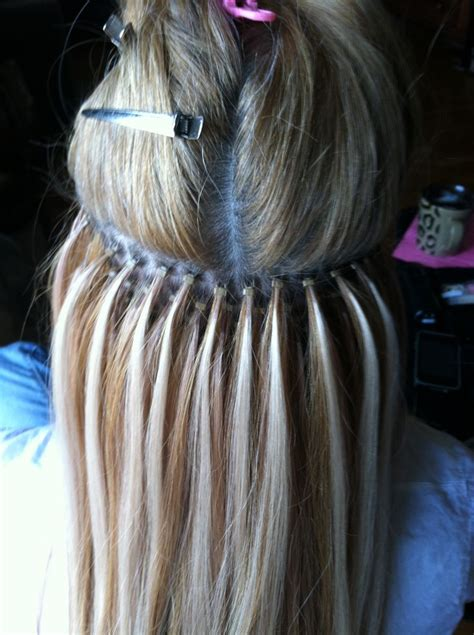 bead hair extensions 1000 ideas about micro bead hair extensions on