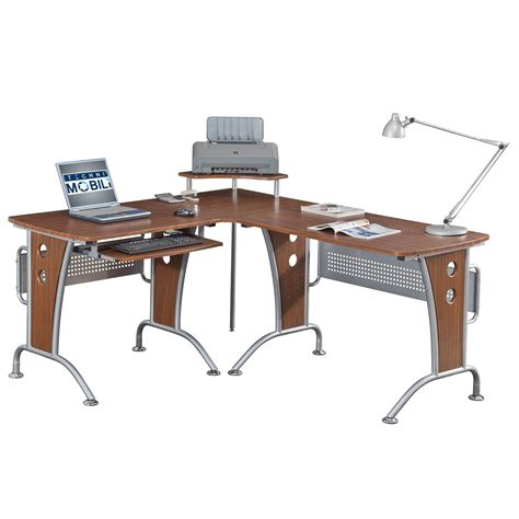 rta products techni mobili l shaped computer desk techni mobili space saver mahagonay computer l desk for