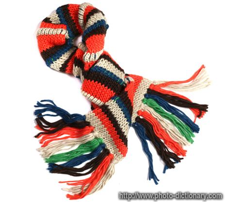 knitted definition knit scarf photo picture definition at photo dictionary