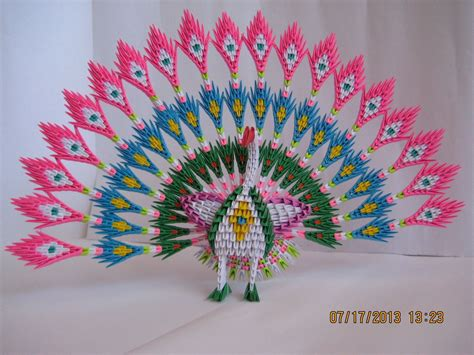 origami 3d 3d origami peacock with 19 tails 1538 pieces