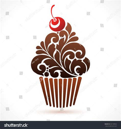 vector cupcake icon logo abstract cupcake stock vector