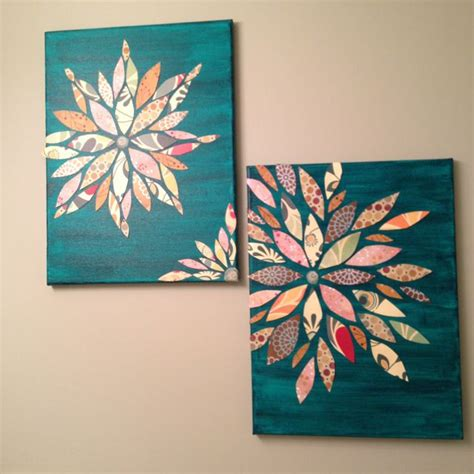 acrylic painting ideas on paper wall made from canvas acrylic paint and scrap paper
