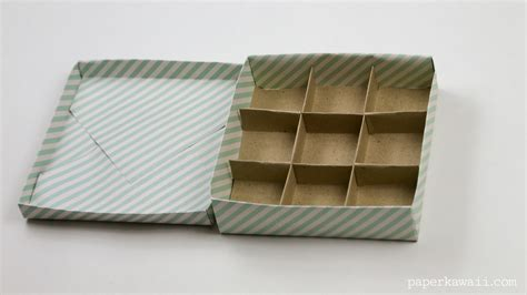 origami box with divider 9 section origami box divider paper kawaii