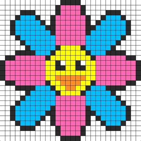 perler bead flower patterns flower perler bead pattern bead sprite patterns