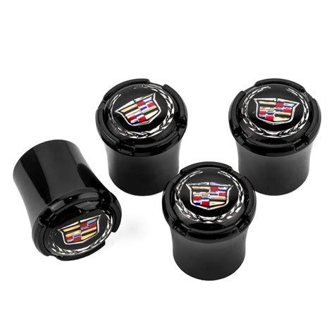 Caps Cadillac by Cadillac Black Logo Valve Stem Caps