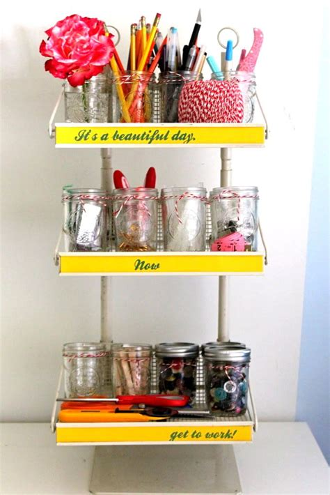 organizing craft supplies jars for organizing organization made easy