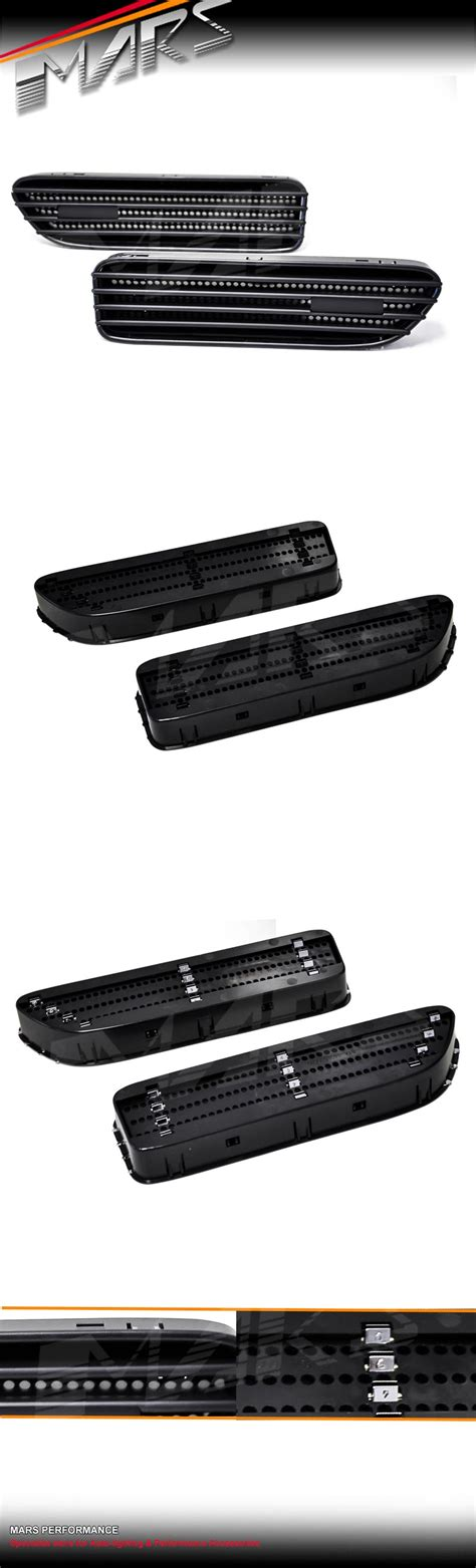 matt black side guard fender air vent for bmw e46 m3 coupe