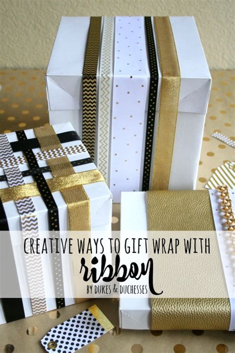 creative ways to gift wrap with ribbon dukes and duchesses