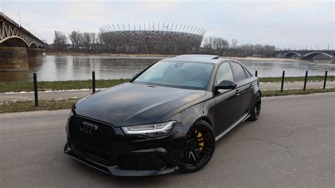 Audi Rs6 Black by The Black Rs6 Sedan That Audi Never Built Has 600 Hp