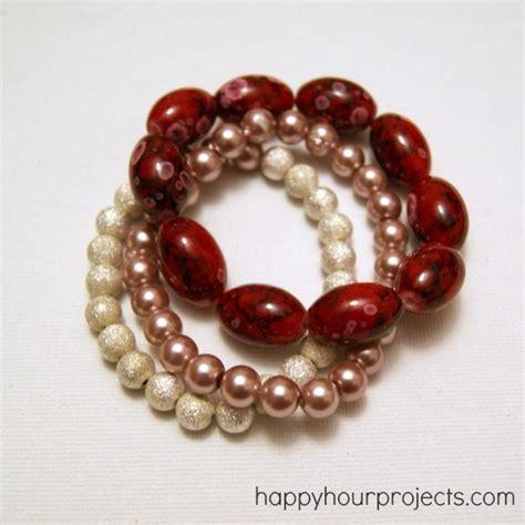 bracelets beginners easy stretch bracelet happy hour projects