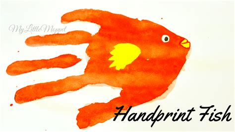 handprint craft for fish handprint craft for my moppet