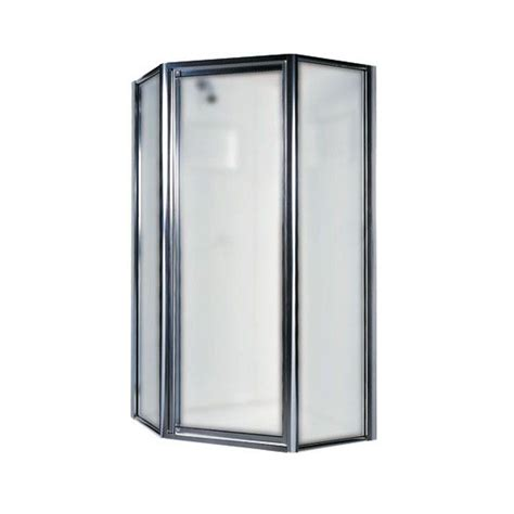 shower doors home depot swan 36 in neo angle shower door with obscure glass