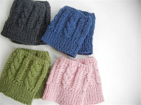 knitted boot cuffs nook becca s cabled boot cuffs