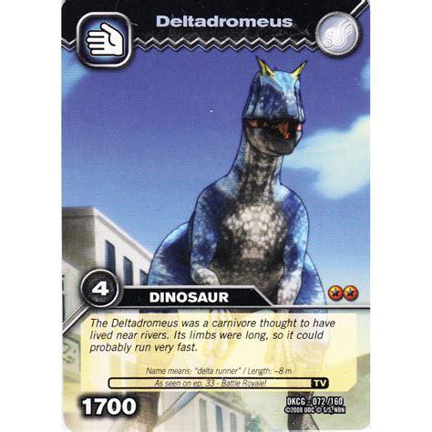 how to make dinosaur king cards deck dinosaur king card dkcg 072 deltadromeus common