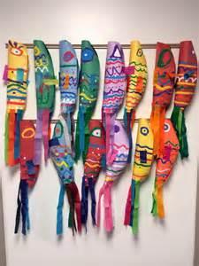 elementary school craft projects elementary project japanese koinobori culture carp