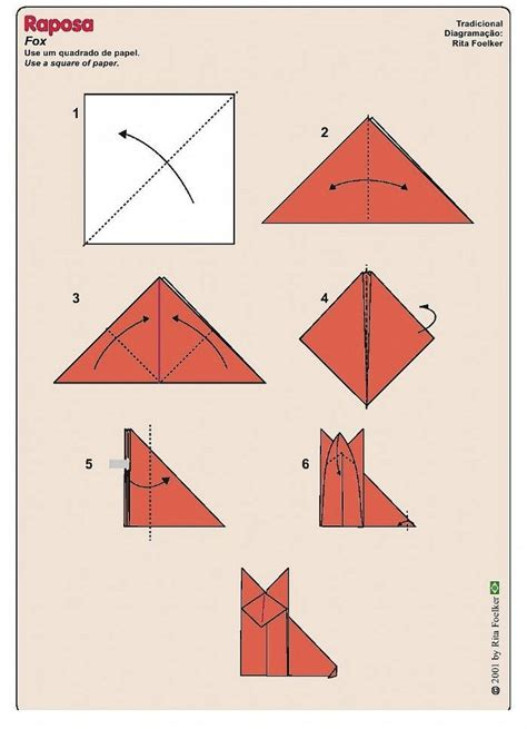 how to make a fox origami pin simple origami fox on
