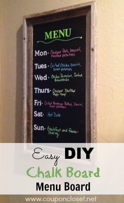 diy chalkboard board how to make a chalk board menu board