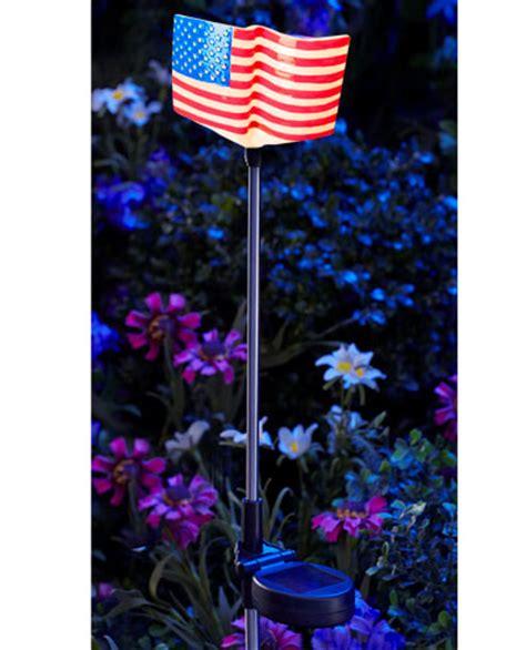 moonray solar lights moonrays american flag solar led stake light