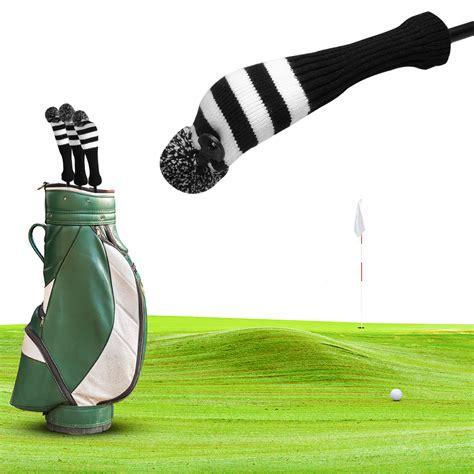golf covers knit vintage pom pom covers knit sock black golf club