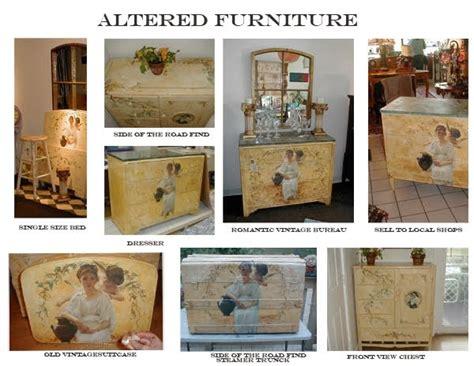 vintage decoupage furniture printable vintage papers altered decoupage furniture