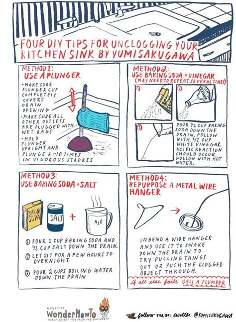 ways to unclog a kitchen sink essential cleaning hacks how to easily unclog the kitchen