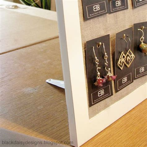 how to make your own jewelry holder 25 best ideas about card displays on stall