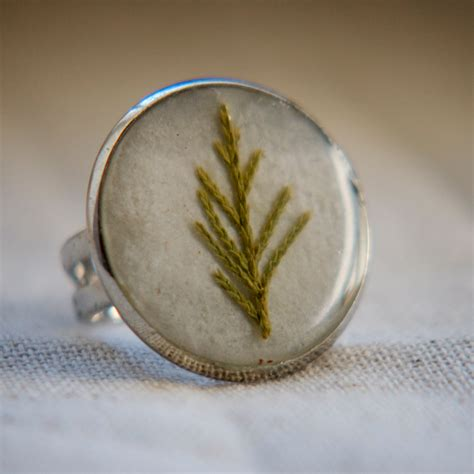resin jewelry resin jewelry tree ring real pressed by