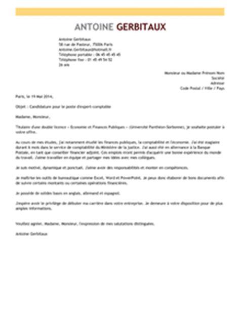 lettre de motivation expert comptable exemple lettre de motivation expert comptable livecareer