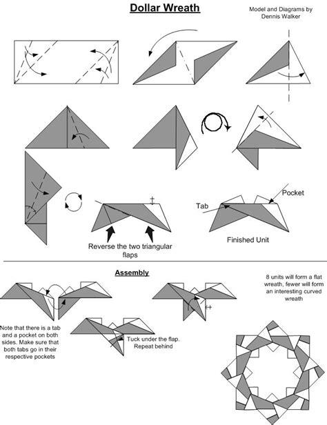 uk money origami dollar wreath origami
