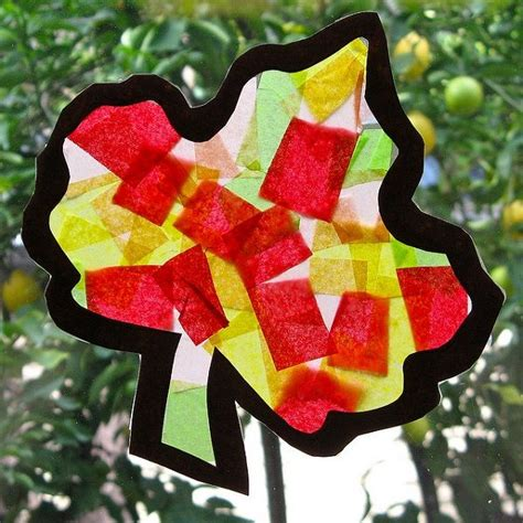 tissue paper leaf craft tissue paper fall leaf and crafts class ideas