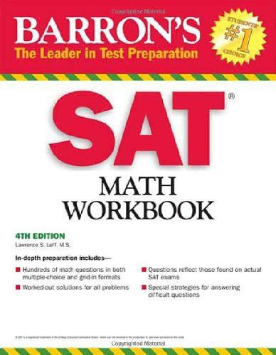 barron s math workbook for the new sat 6th edition barron s sat math workbook used high school text books just launched on in