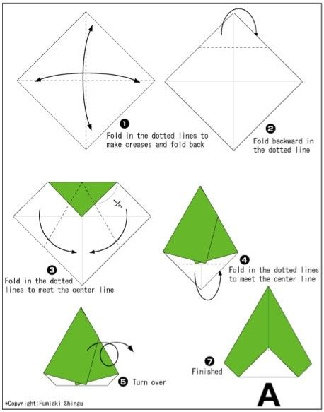 really easy origami for a must visit for every day until