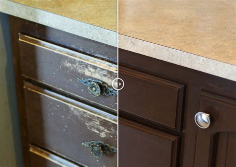 kitchen cabinet refinishing before and after resurface kitchen cabinets before and after image mag