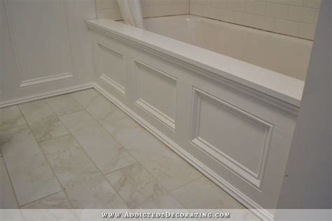 Wood Around Bathtub by Diy Tub Skirt Decorative Side Panel For A Standard Apron