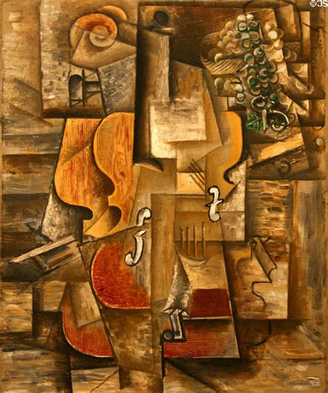 picasso paintings in new york violin grapes 1912 painting in cubist style by pablo