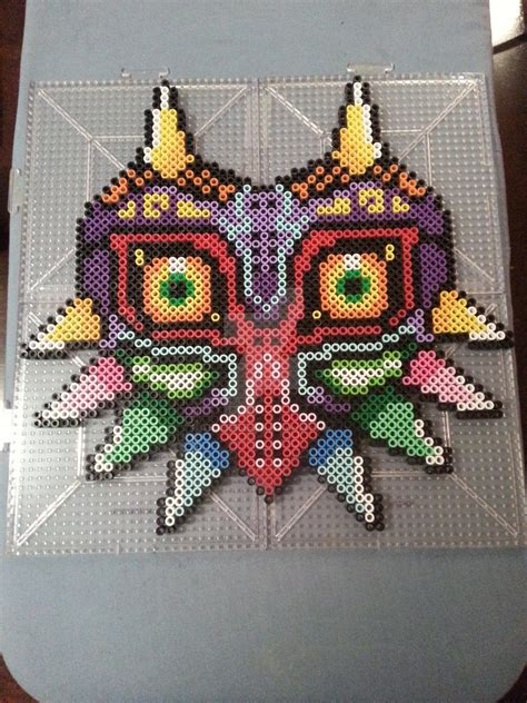 how to make a bead mask majora s mask perler bead figure by ashmoondesigns on
