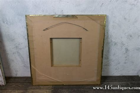 large square wall mirror large 1980s square brass framed mirror for sale at
