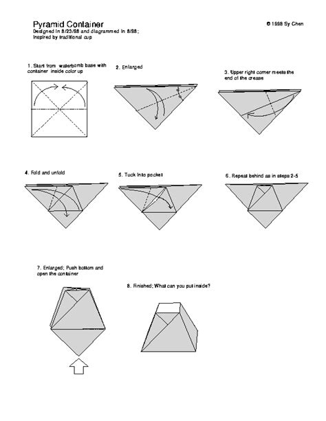 origami box directions origami pyramid box easter origami boxes