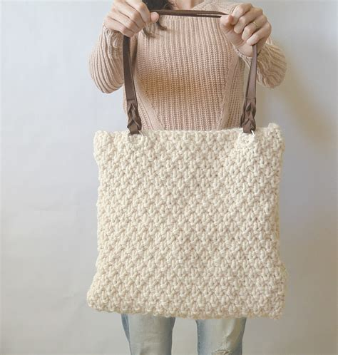 how to knit a purse aspen mountain knit bag pattern in a stitch
