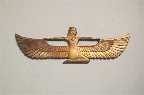 Ancient Egyptian Home Decor 1 vintage die struck brass egyptian bird goddess