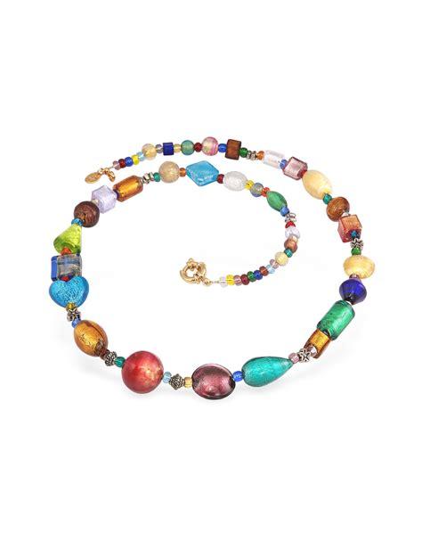 murano glass bead necklace antica murrina multicolor murano glass bead