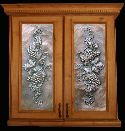 decorative glass panels for cabinets metal panels from artful inserts the cabinet door panels