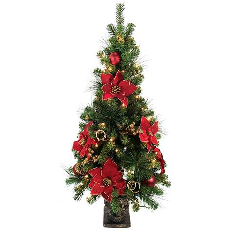 clear tree lights home accents 4 ft poinsettia potted artificial