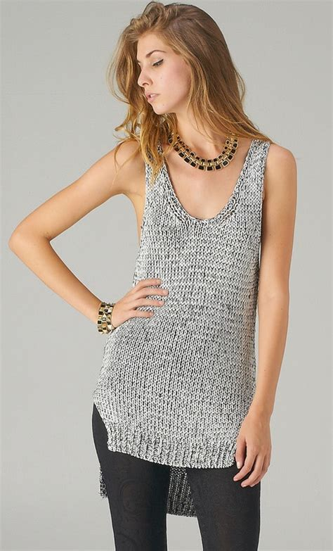 top knitting websites glittery knit tank top my style