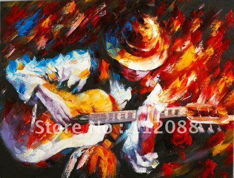 whole painting free shipping high quality 100 handmade guitarist