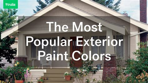 most popular colors the most popular exterior paint colors at home