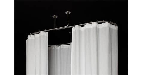 barre pour rideau de ou pour rideau de baignoire ovale fixation plafond grs guest