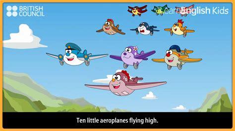 ten little aeroplanes nursery rhymes amp kids songs