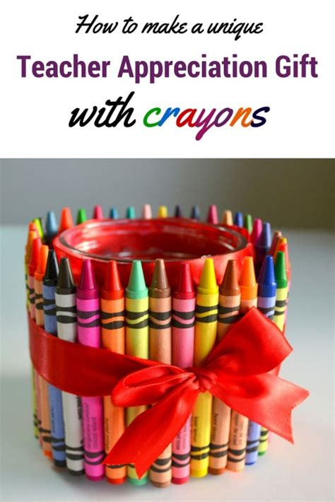 unique gifts to make how to make a unique appreciation gift with crayons